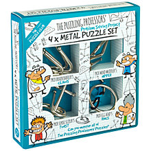 Buy Professor Puzzle Problem Solving Project, 4x Metal Puzzle Set Online at johnlewis.com