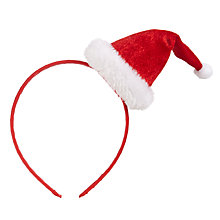 Buy John Lewis Christmas Santa Hat Alice Band Online at johnlewis.com
