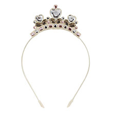 Buy John Lewis Tiara Alice Band, Cream Online at johnlewis.com