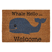 Buy John Lewis Whale Hello Doormat Online at johnlewis.com