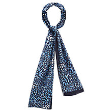 Buy Viyella Teardrop Print Scarf, Blue Online at johnlewis.com