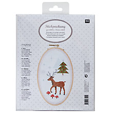 Buy Rico Christmas Deer Embroidery Kit Online at johnlewis.com
