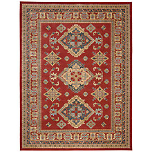 Buy John Lewis Diamond Kazak Rug, Red Online at johnlewis.com
