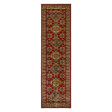 Buy John Lewis Diamond Kazak Runner, Red, L229 x W66cm Online at johnlewis.com