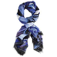 Buy Chesca Abstract Print Scarf, Blue Online at johnlewis.com