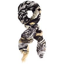 Buy Chesca Leopard Print Scarf, Black/Ochre Online at johnlewis.com