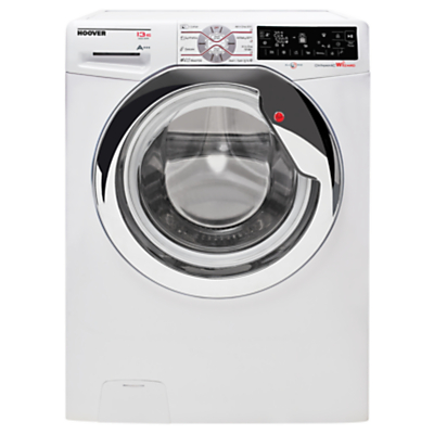 Image of Hoover Dynamic Wizard DWT L413AIW3/1 Freestanding Wi-Fi Washing Machine, 13kg Load, A+++ Energy Rating, 1400rpm Spin, White/Chrome