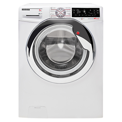 Image of Hoover Dynamic Wizard DWT L68AIW3/1 Freestanding Wi-Fi Washing Machine, 8kg Load, A+++ Energy Rating, 1600rpm Spin, White