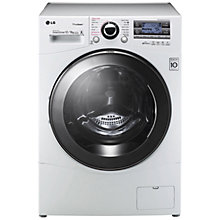 Buy LG F1695RDH Freestanding Washer Dryer, 12kg Wash/8kg Dry Load, A Energy Rating, 1600vrpm Spin, White Online at johnlewis.com