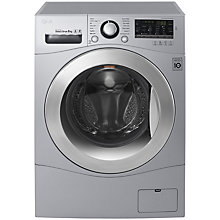Buy LG FH4A8TDN4 Freestanding Washing Machine, 8kg Load, A+++ Energy Rating, 1400rpm Spin, Silver Online at johnlewis.com