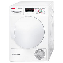 Buy Bosch WTW83260GB Freestanding Condenser Tumble Dryer, 8kg Load, A++ Energy Rating, White Online at johnlewis.com