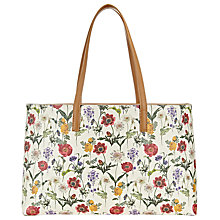 Buy John Lewis Floral Print Tote, Multi Online at johnlewis.com