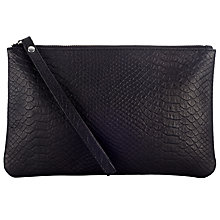 Buy John Lewis Margo Leather Pouch, Black Online at johnlewis.com