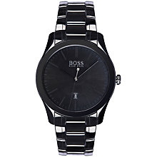 Buy BOSS 21513223 Men's Ambassador Bracelet Strap Watch, Black Online at johnlewis.com