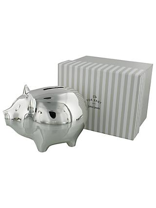 John Lewis & Partners Silver Plated Piggy Bank
