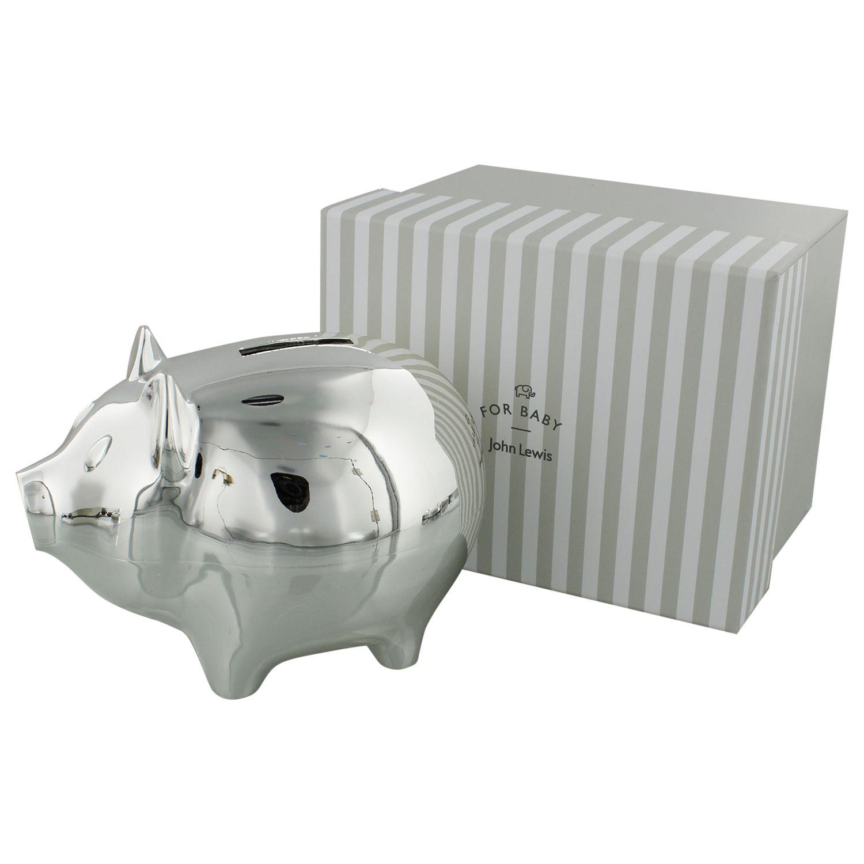 John Lewis Wedding Gift Box : Buy John Lewis Silver Plated Piggy Bank John Lewis