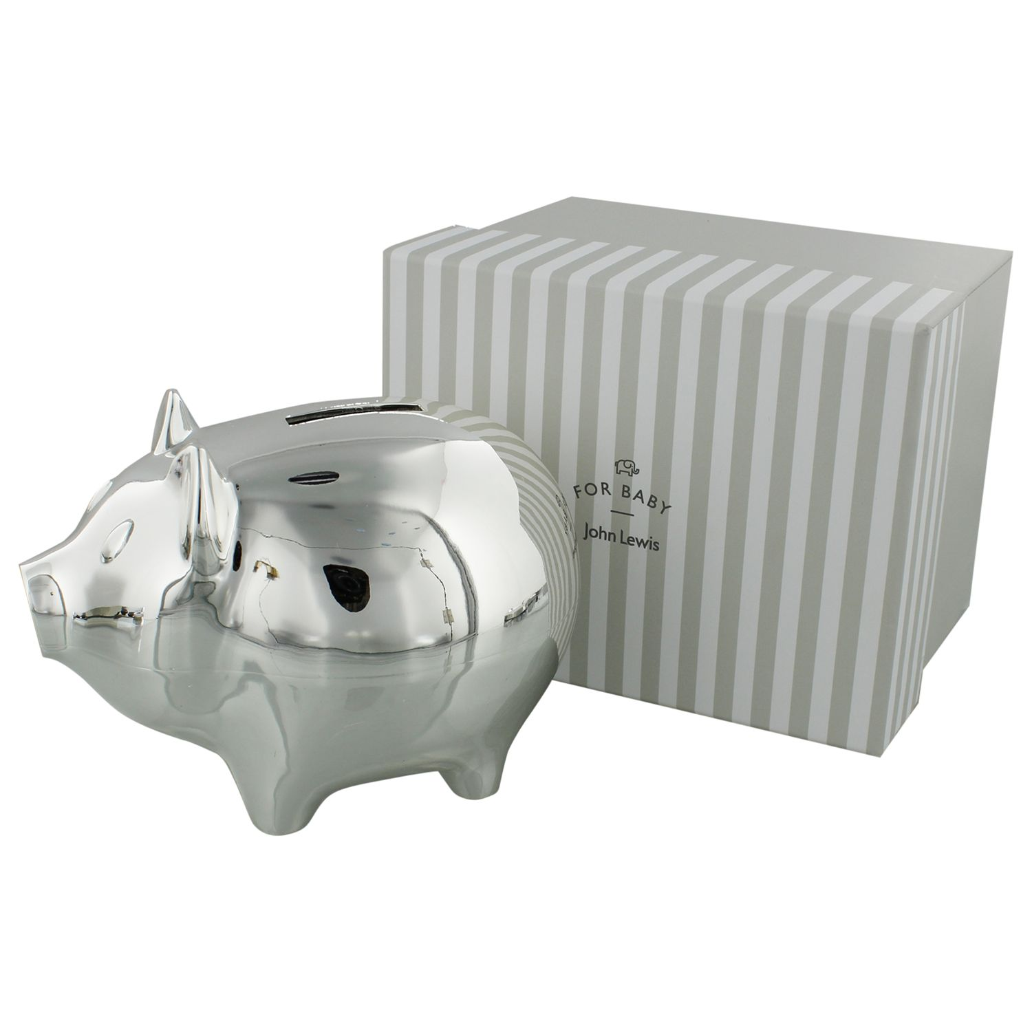 Buy John Lewis Silver Plated Piggy Bank John Lewis