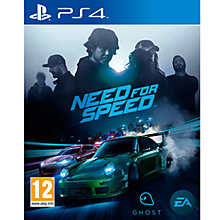 Buy Need For Speed, PS4 Online at johnlewis.com