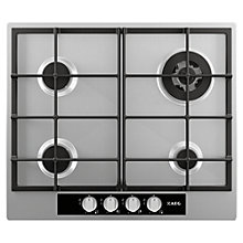 Buy AEG HG65SM4449 Gas Hob, Stainless Steel Online at johnlewis.com