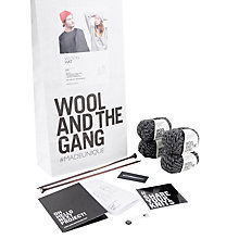 Buy Wool and the Gang Wilson Hat Knit Kit, Shackwell Grey Online at johnlewis.com