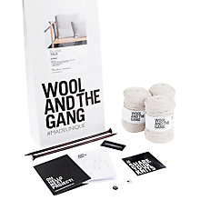 Buy Wool and the Gang Lil Pillow Talk Knit Kit, Sahara Dust Online at johnlewis.com