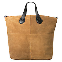 Buy Mango Panel Suede Shopper Bag Online at johnlewis.com