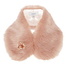 Buy Coast Bonnie Brooch Faux Fur Collar, Blush Online at johnlewis.com
