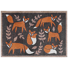 Buy Turtle Mat Folky Foxes Brown Door Mat Online at johnlewis.com