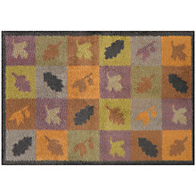 Buy Turtle Mat Autumn Squares & Leaves Door Mat, Brown Online at johnlewis.com