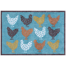 Buy Turtle Mat Chickens Doormat, Turquoise Online at johnlewis.com
