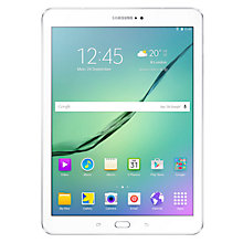"Buy Samsung Galaxy Tab S2, Octa-core Exynos, Android, 9.7"", Wi-Fi, 32GB, White +  FREE Dual USB Portable Power Bank Online at johnlewis.com"