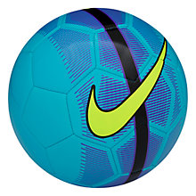 Buy Nike Mercurial Fade Football, Size 5, Blue Lagoon/Hyper Green Online at johnlewis.com