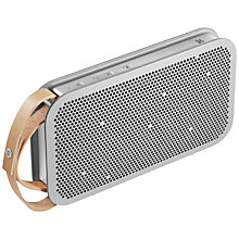 Buy B&O PLAY by Bang & Olufsen Beoplay A2 Portable Bluetooth Speaker, Aluminium Online at johnlewis.com