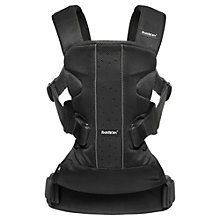Buy BabyBjörn One Air Baby Carrier, Black Mesh Online at johnlewis.com