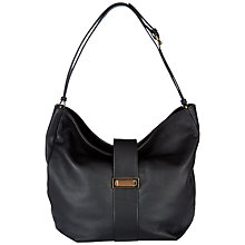 Buy Jaeger West Leather Hobo Bag, Black Online at johnlewis.com