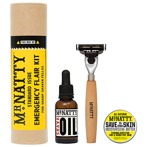Buy Mr Natty Emergency Flair Kit Shave Set Gift Tube Online at johnlewis.com