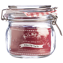 Buy Kilner Clip Top Jar, 500ml, Red Online at johnlewis.com