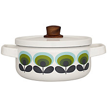 Buy Orla Kiely Casserole, Dia.20cm, Green Flower Online at johnlewis.com