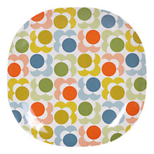 Buy Orla Kiely Multi Shadow Flower Melamine Plate, Dia 26.5cm Online at johnlewis.com