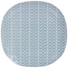 Buy Orla Kiely Linear Stem Large Plate, Blue Online at johnlewis.com