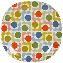 Buy Orla Kiely Multi Shadow Flower Melamine Plate, Dia. 21.5cm Online at johnlewis.com