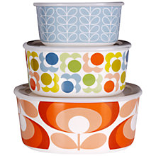 Buy Orla Kiely Melamine Tins, Set of 3 Online at johnlewis.com