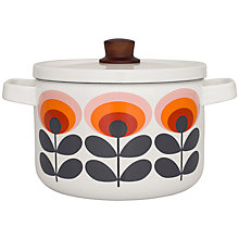 Buy Orla Kiely Casserole, Dia.22cm, Red Flower Online at johnlewis.com