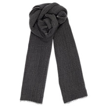 Buy Jigsaw Prince of Wales Check Wool Scarf, Grey Online at johnlewis.com