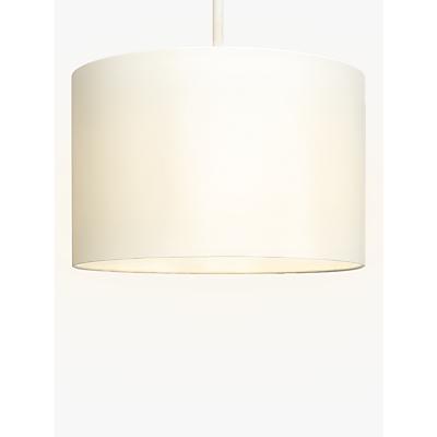 John Lewis Lulu Cylinder Lampshade, Cream, Dia.35cm