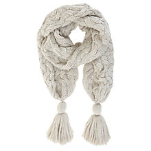 Buy Mint Velvet Blue Sky Chevron Scarf, Grey Online at johnlewis.com