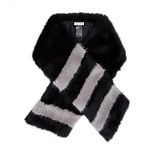 Buy Reiss Filipa Faux Fur Horizontal Stripe Scarf Online at johnlewis.com