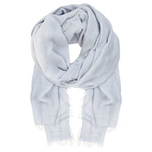 Buy Mint Velvet Sky Chevron Scarf, Blue Online at johnlewis.com