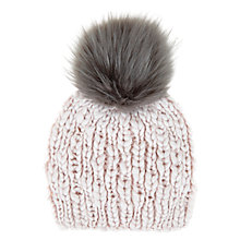 Buy Mint Velvet Powder Pom Pom Hat, Pale Pink Online at johnlewis.com