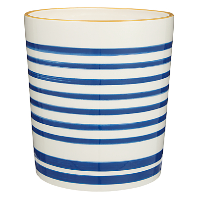 John Lewis Salcombe Stripe Bathroom Bin, Nautical Blue